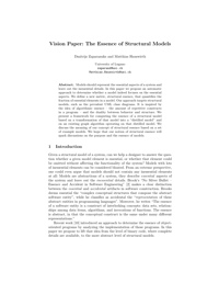 Vision Paper: The Essence of Structural Models
