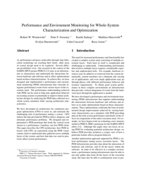 Performance and Environment Monitoring for Whole-System Characterization and Optimization