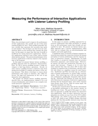 Measuring the Performance of Interactive Applications with Listener Latency Profiling