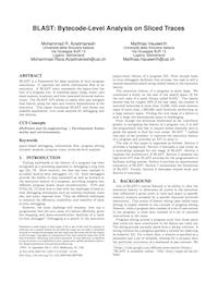 BLAST: Bytecode-Level Analysis on Sliced Traces