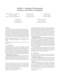 Mobile vs. Desktop Programming Projects: The Effect on Students